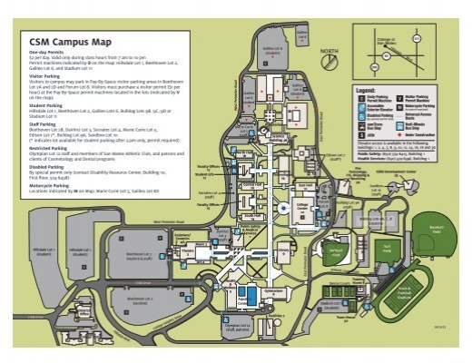 campus map parking directory college of san mateo