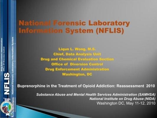 National Forensic Laboratory Information System Nflis