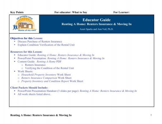 Home Renters Insurance >> Pdf Version Home Of My Own