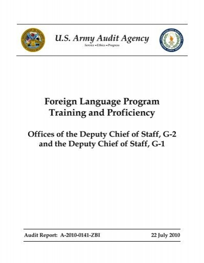 Foreign Language Program Training And Proficiency