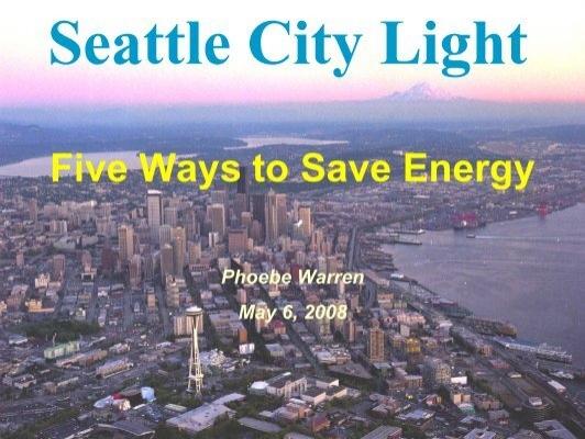 Seattle City Light Phoebe Warren   Resource Venture