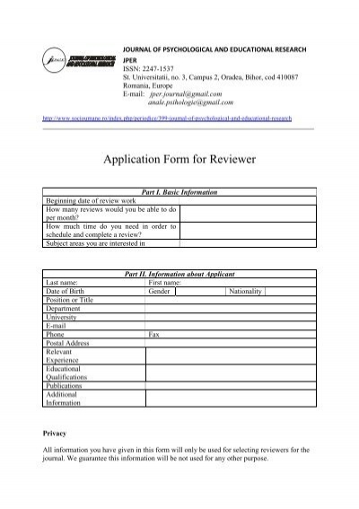 Download Reviewer Application Form Images