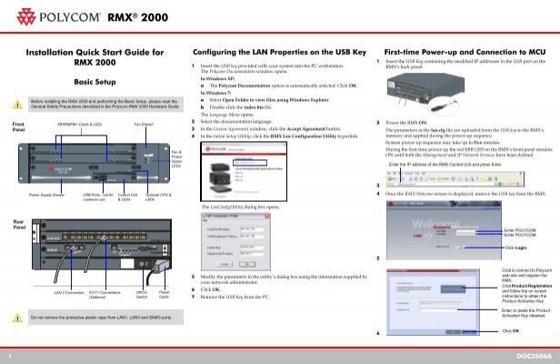 rmx 2000 quick installation a3 polycom rh yumpu com Polycom DMA 7000 Polycom RealPresence Collaboration Server