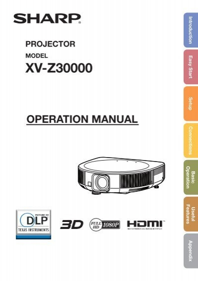 sharp xv z30000 manual