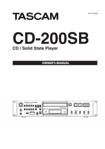 Tascam cd-200sb cd/sd/usb player with sd/usb dubbing | touchboards.