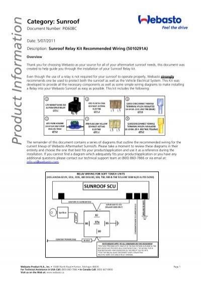 [SCHEMATICS_4PO]  General Relay Wiring (PI060BC) - Techwebasto.com | Wiring Diagram For Sunroof |  | Yumpu