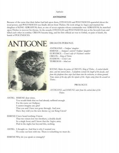an analysis of the characters of ismene and haimon in antigone