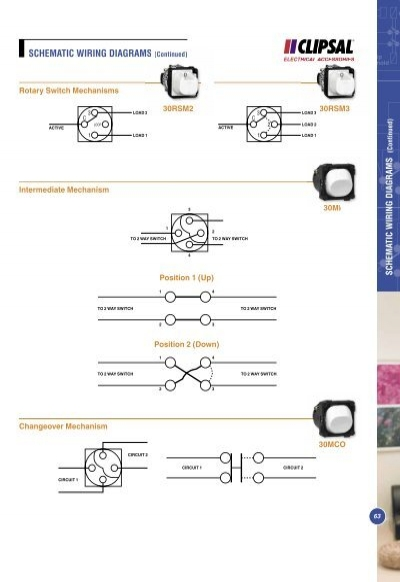 schematic wiring diagrams clipsal saturn series wiring diagram #7
