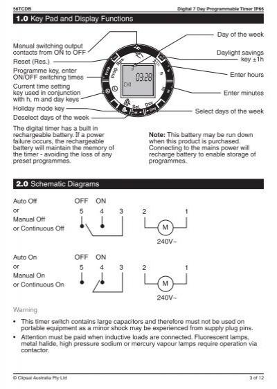 clipsal digital timer instructions