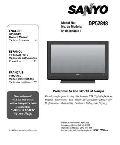 sanyo hdtv manual ultimate user guide u2022 rh megauserguide today