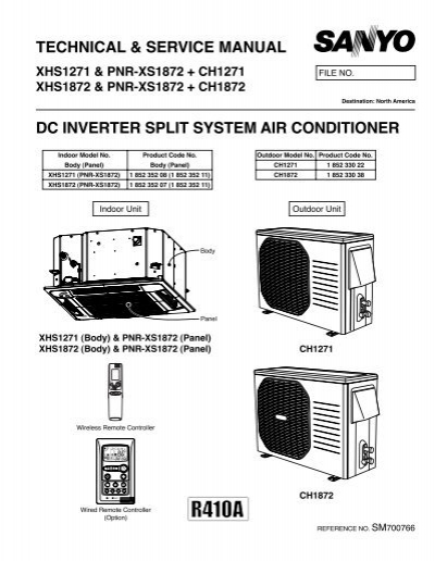 technical service manual dc inverter split sanyo rh yumpu com