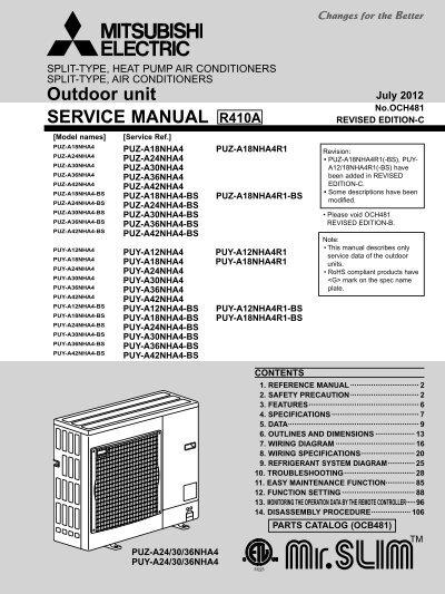 Mitsubishi Puz A18nha4 Schematic - DIY Wiring Diagrams •