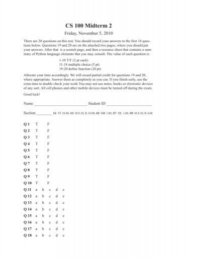 cs100 midterm notes
