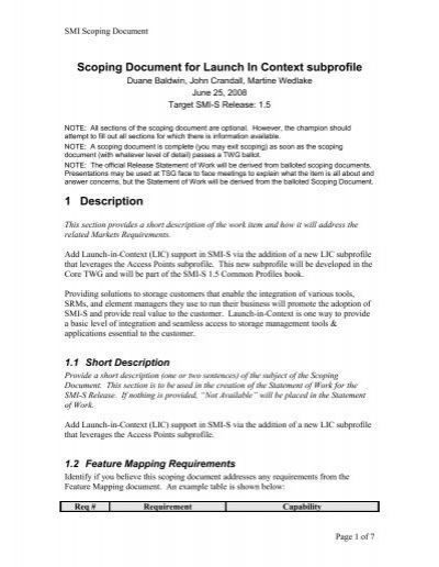 Scoping document template project scope statement template v2 3 scoping document template for 1 4 pronofoot35fo Gallery