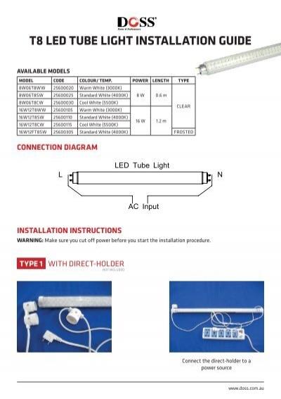 T8 led tube light installation guide wintal publicscrutiny Choice Image