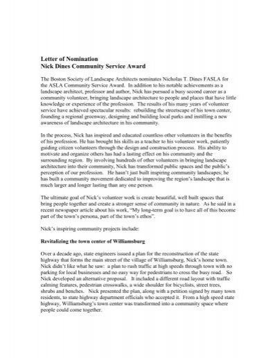 Letter Of Recommendation For Community Involvement from www.yumpu.com