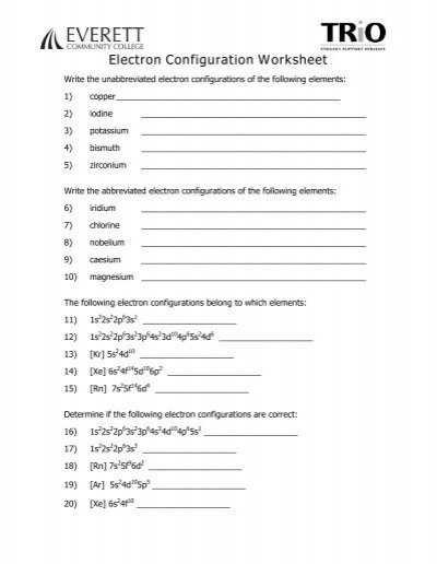 Worksheets Electron Configuration Worksheets writing electron configuration worksheet practice high school chemistrywriting configurations wikibooks
