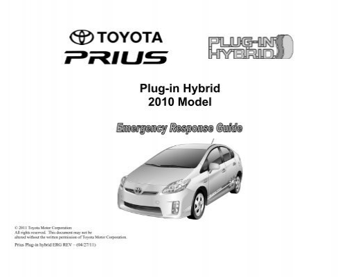 toyota hybrid emergency response guide how to and user guide rh taxibermuda co Emergency Response Guide Green Section Hazardous Materials Emergency Response Guide