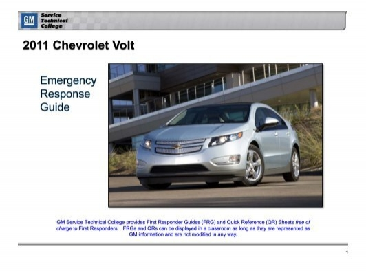 chevrolet volt emergency response guide electric vehicle safety rh yumpu com Emergency First Responders Cisco Emergency Responder