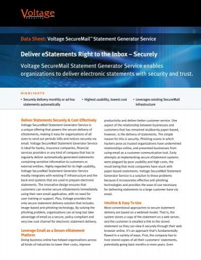 statement generator