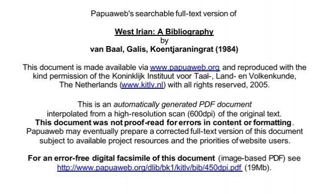 3 Mb Papuaweb