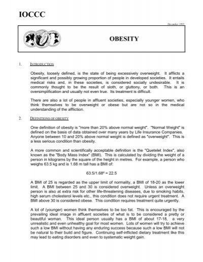 Obesity Lindt