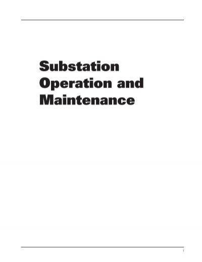 substation operation and maintenance alexander publications rh yumpu com