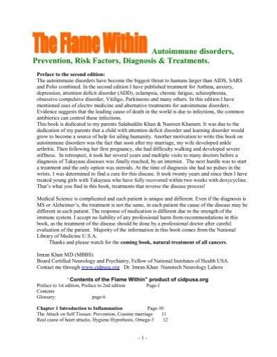 Autoimmune Disorders Prevention Risk Factors Diagnosis Cidp