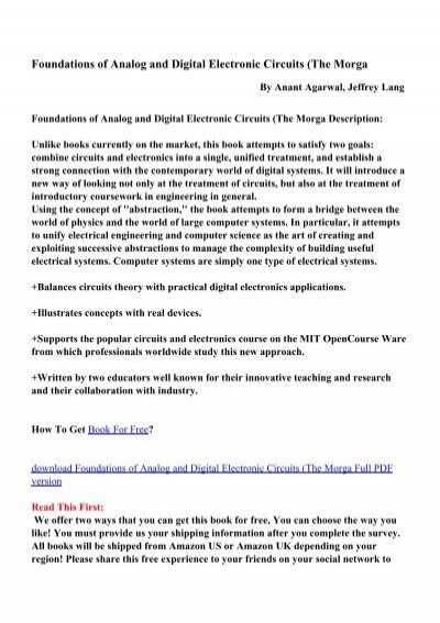 Foundations of Analog and Digital Electronic Circuits - PDF eBooks ...