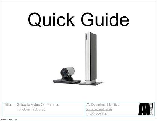 title guide to video conference tandberg edge 95 rh yumpu com cisco tandberg edge 95 mxp manual tandberg edge 95 user manual