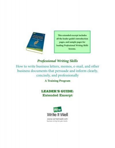 Professional Writing Skills Training for KPPU Officials            SlideShare