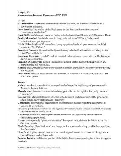 Chapter 25 communism fascism democracy social studies publicscrutiny Choice Image