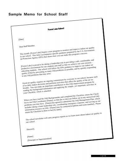 Sample memo for school staff 20471817g altavistaventures Images