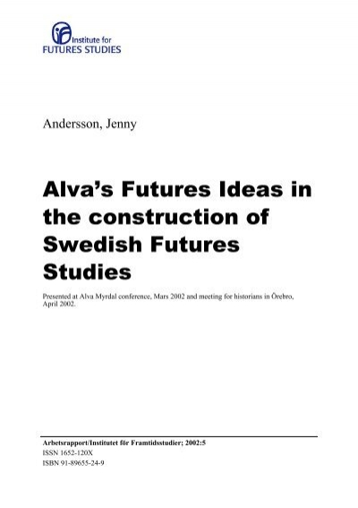 Alva S Futures Institutet For Framtidsstudier