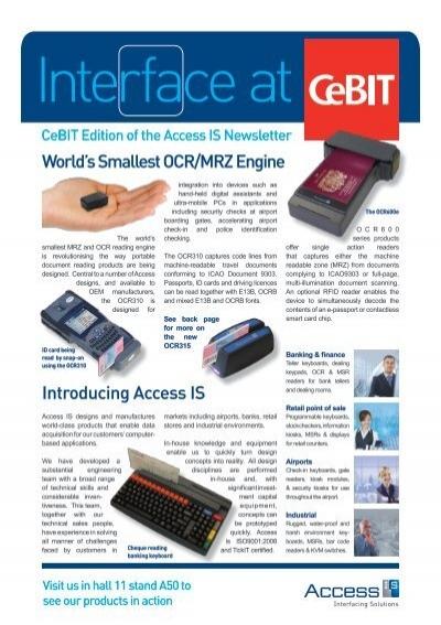 Worldu0027s Smallest OCR/MRZ Engine Introducing Access IS
