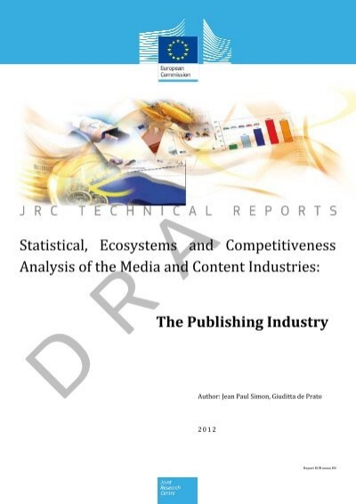 The Publishing Industry Statistical, Ecosystems And - JRC - Europa