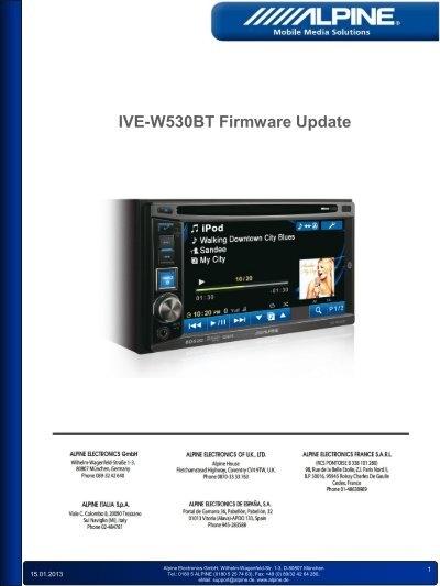 Updating Firmware On Alpine Cde-103bt - Free Software and Shareware