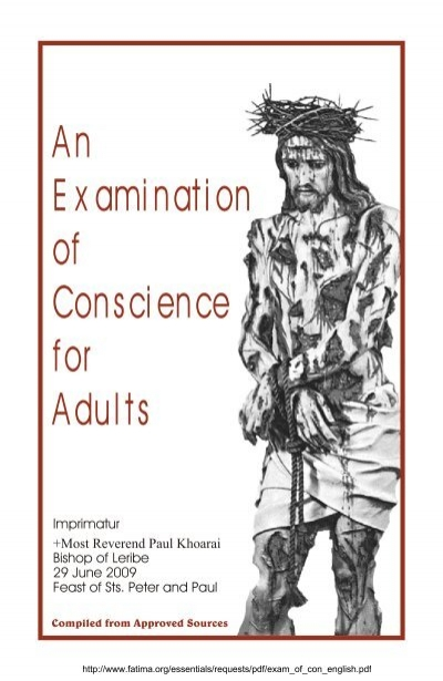 Examination of conscience for adults pdf