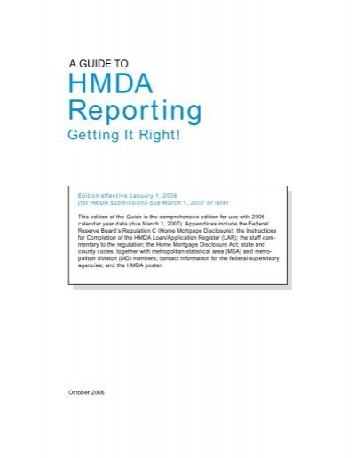 A guide to hmda reporting getting it right by federal financial.
