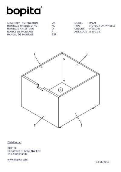 notice de montage du tiroir roulettes mix and match l bopita. Black Bedroom Furniture Sets. Home Design Ideas