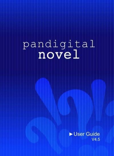 pandigital novel ereader user guide