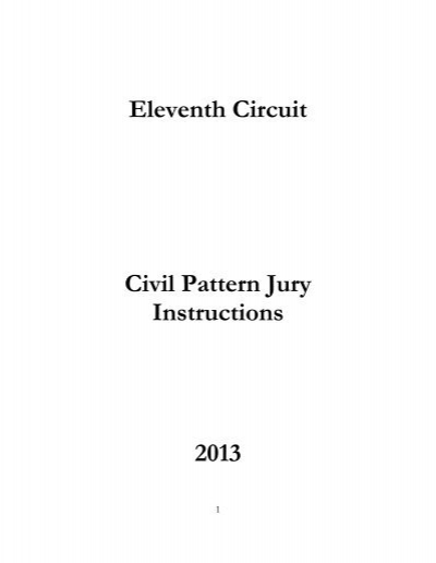 2013 Pattern Jury Instructions Civil Southern District Of Georgia
