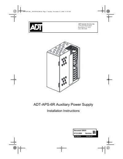 unimode 200 installation manual at&t u-verse installation diagram adt aps 6r auxiliary power supply fire lite alarms rh yumpu com adt unimode adt focus 200 plus wiring diagram