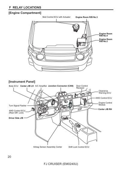 fj cruiser interior parts diagram