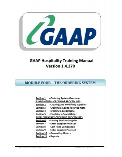 back office training manual module 4 the ordering system