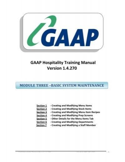 back office training manual module 3 basic system maintenance