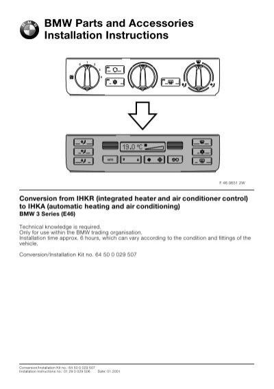 Conversion from ihkr to ihka e46all 4421 bmw retrofit guides swarovskicordoba Image collections