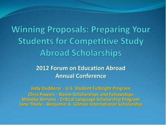 Winning Proposals - Forum on Education Abroad