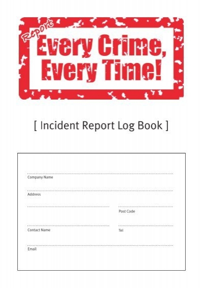 Incident Report Log Book