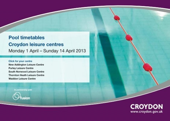 Easter Swimming Timetables 636 Pdf Fusion Lifestyle